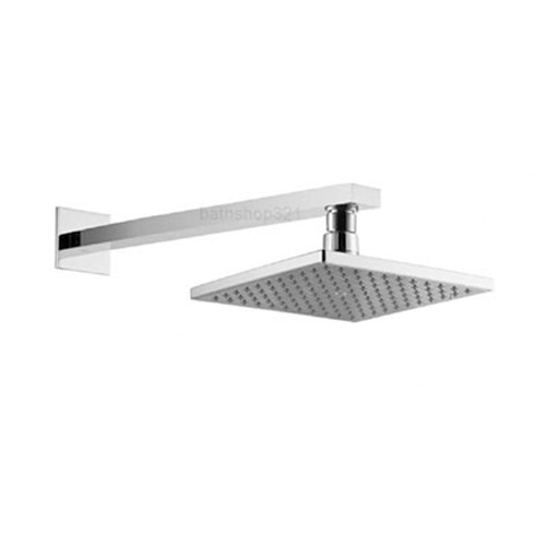 200mm Square Fixed Shower Head and Arm