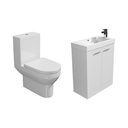 Designer Furniture Gloss White Cloakroom Suite 560mm