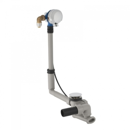 Geberit Bath Filler with Overflow and Pop Up Waste Drain with Inlet and PVC Adaptor 150.712.21.1