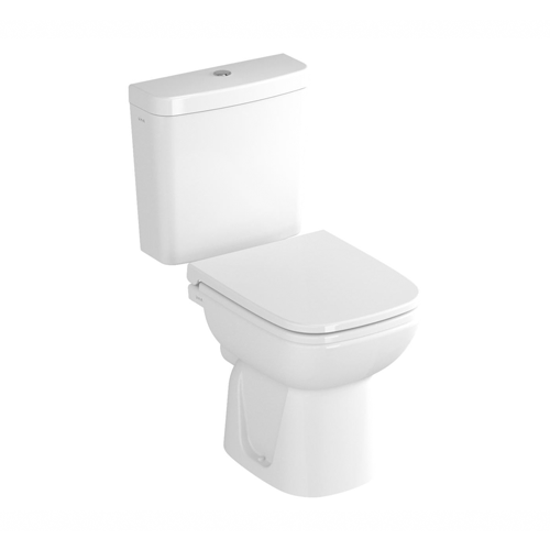 VitrA S20 Close Coupled toilet WC with Open Back, Push Button Cistern and Seat