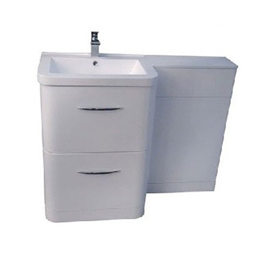 Lux Combined 1100mm Complete Furniture Set White