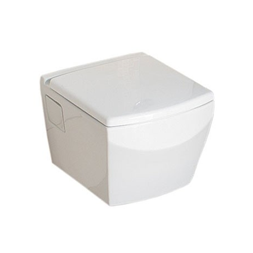 Argon Modern Wall Hung Toilet WC with Soft Close Seat