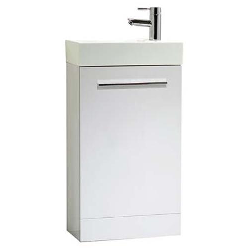 Tavistock Kobe 450mm Gloss White Floorstanding Vanity Unit & Basin