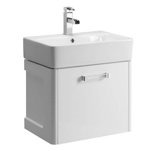 Tavistock Q60 575mm Wall Mounted Gloss White Vanity Basin Unit