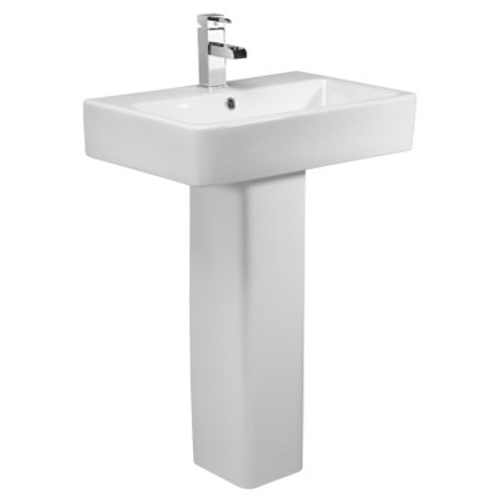 Q60 Short Projection 575mm Basin and Pedestal