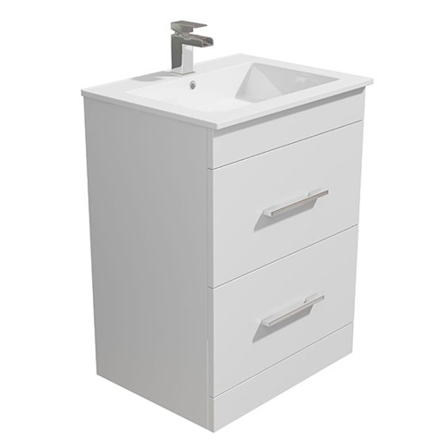 600mm White Vanity Basin Unit - Alpine
