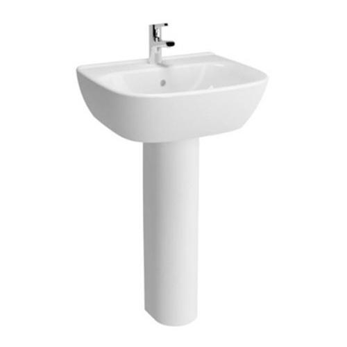 VitrA Zentrum 600mm 1 Tap Hole Washbasin With Full Pedestal