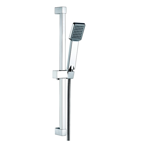 Square Slide Shower Rail Kit With Elbow