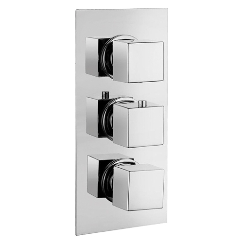 Square Concealed Triple Thermostatic Shower Valve by Voda Design