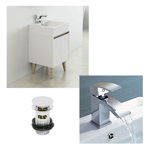 500mm Vanity Unit, Countertop Basin, Tap & Waste