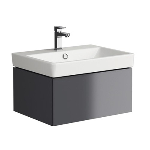 600mm Grey Wall Hung Vanity Unit - Berg By Synergy