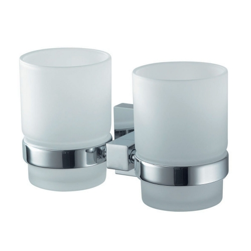 Twin Wall Mounted Glass Holder - Rosa by Voda Design