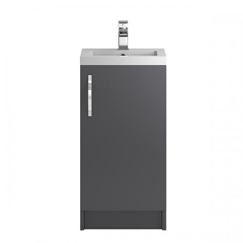 Hudson Reed Grey Apollo Floor Standing 400mm Cabinet & Basin - APL422