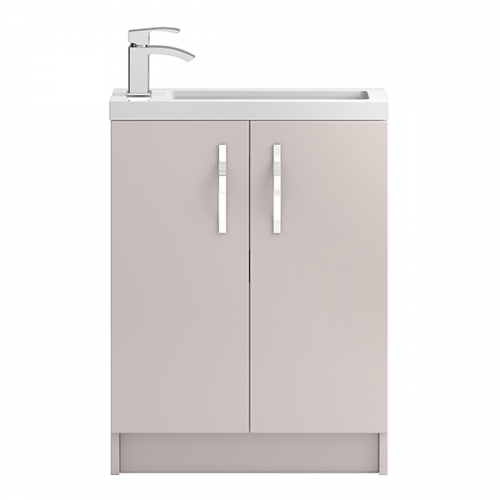 Hudson Reed Cashmere Apollo Compact Floor Standing 600mm Cabinet & Basin - APL726C