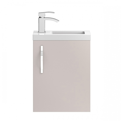 Hudson Reed Cashmere Apollo Compact Wall Hung 400mm Cabinet & Basin - APL732C