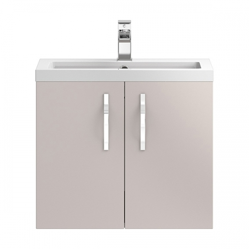 Hudson Reed Cashmere Apollo Wall Hung 600mm Cabinet & Basin - Cashmere