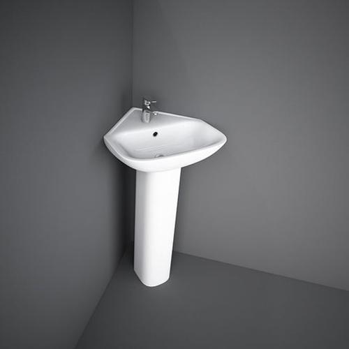 RAK Ceramics Origin 62 Corner Basin with Full Pedestal