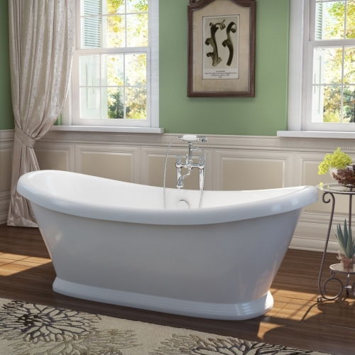 Freestanding Traditional Double Ended Bath 1770mm - Boat By Voda Design