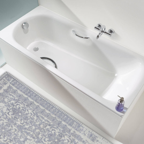 Kaldewei Saniform Plus Steel Bath Drilled For Twin Grips 0 Tap Hole