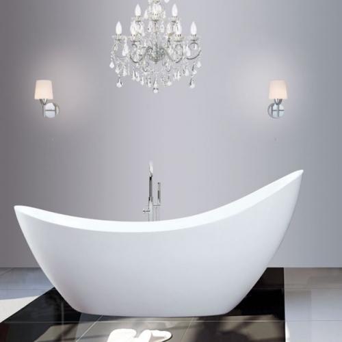 Freestanding Modern Luxury Thin Edged Slipper Bath 1750mm - Picasso By Voda Design