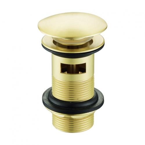 Soar Brushed Brass Slotted Basin Waste - By Voda Design