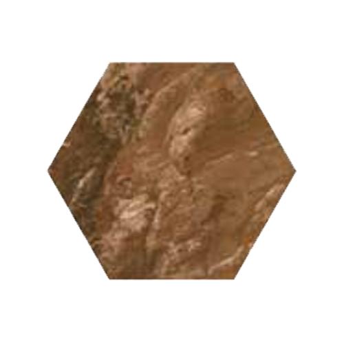 RAK Ceramics Country Brick Brown Hexagonal Tiles (20 x 23)