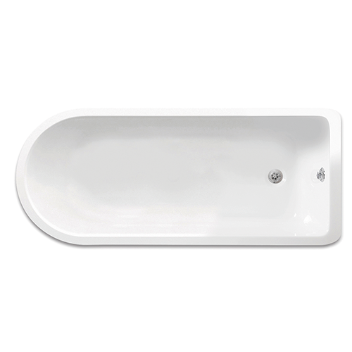 Freestanding Traditional Single Ended Roll Top Bath With Chrome Ball And Claw Feet 1470mm - Cambridge By Synergy