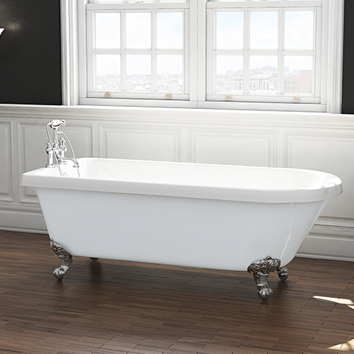 Freestanding Roll Top Traditional Single Ended Bath - Rochester By Voda Design
