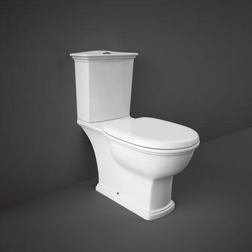 RAK Ceramics Washington Close Coupled Toilet with Soft Close White Wooden Seat