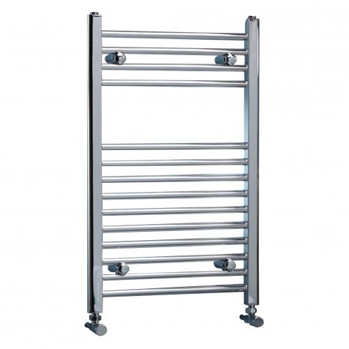 Chrome Straight Heated Towel Rail - 400mm Width