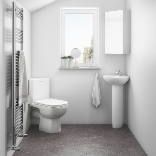 Corner Toilet & Basin Suite