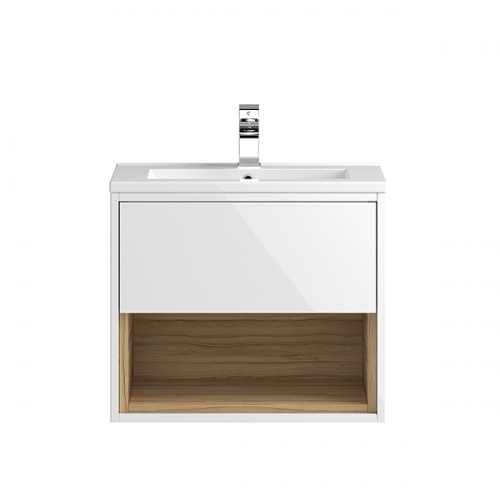 Hudson Reed White Coast 600mm Wall Hung Vanity Unit with basin option 2 - CST986