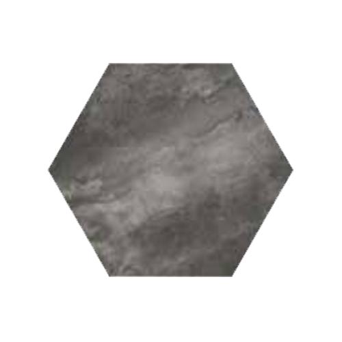 RAK Ceramics Country Brick Dark Grey Hexagonal Tiles (20 x 23)