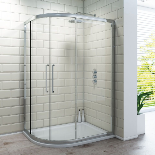 Offset Quadrant Shower Enclosure - Kaso 8 by Voda Design (8mm Thick)