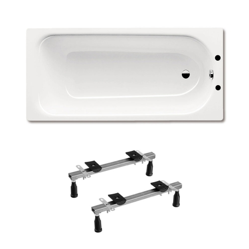 Kaldewei Eurowa 312 Steel Bath - 2 Tap Holes Inc Leg Set