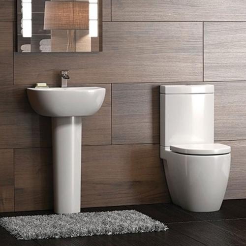 Flero Cloakroom Suite (Pan, Cistern, Seat, Basin & Pedestal)