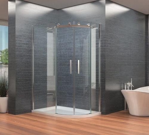 Synergy Vodas 8mm Frameless Offset Quadrant Shower Enclosure