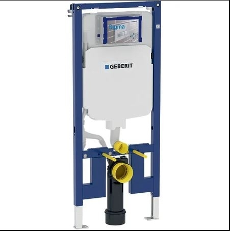 Geberit Duofix 1120mm High WC Frame with UP720 Sigma Cistern 8cm 111.799.00.1