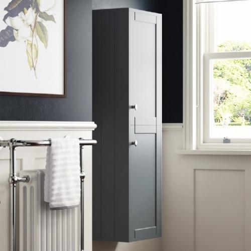 Synergy Henbury 400mm Tall Wall Unit - Grey