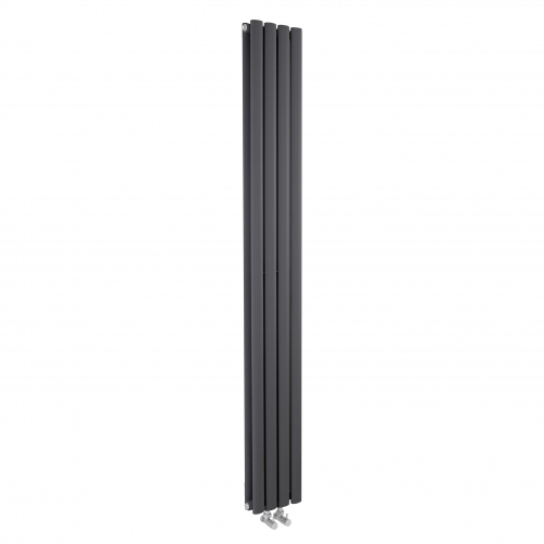 Hudson Reed Anthracite Revive Compact Double Panel Designer Radiator H1800 x W236 mm HRE009