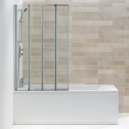 Hydro 4 Panel Folding Bath Screen