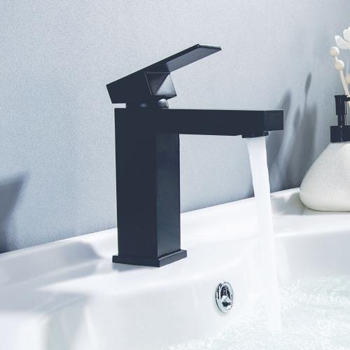 Douglas Black Mini Mono Basin Mixer - By Voda Design