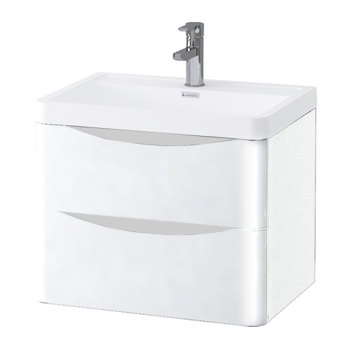 600mm Wall Mounted Vanity Unit with Basin - Kiev By Synergy