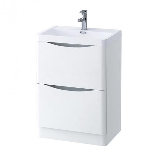 Voda Design Zen 600 mm Floor Standing Vanity Unit with Basin