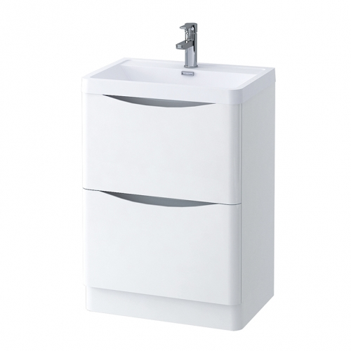 600mm Freestanding Vanity Unit with Basin - Kiev By Synergy
