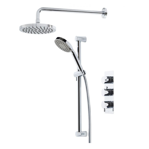 Kinetic Triple Concealed Shower with Head and Kit