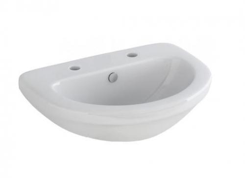 2 Tap Hole Wall Hung Basin & Bracket - 360mm - Essentials By Voda Design