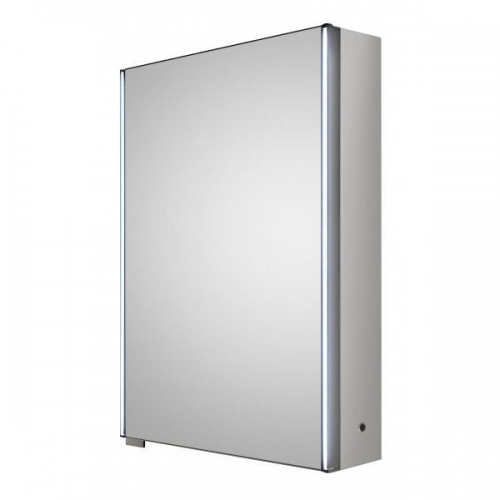 Hudson Reed Meloso LED motion sensor mirror cabinet with shaver socket H700 x W500 x D140 mm LQ093