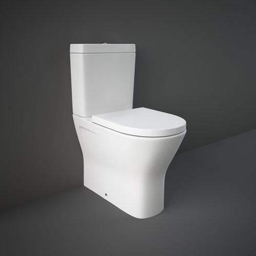 RAK Resort Maxi Close Coupled Fully Back to Wall WC Pan, Cistern and Soft Close Seat