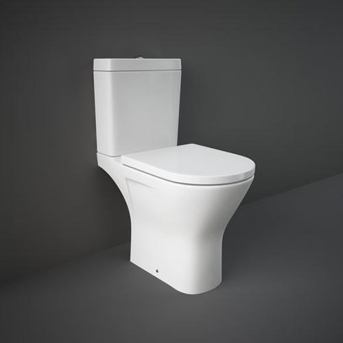 RAK Resort Maxi Close Coupled Full Access WC Pan, Cistern and Soft Close Seat